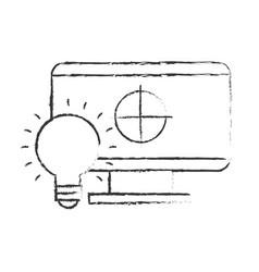 graphic design computer bulb idea creativity vector image