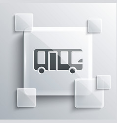 Grey airport bus icon isolated on background vector