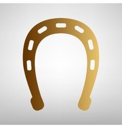 Horseshoe sign Flat style icon vector image