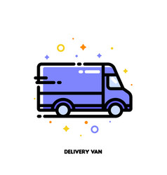 icon delivery van which for delivery or shipping vector image