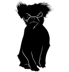 Japanese Chin dog vector image