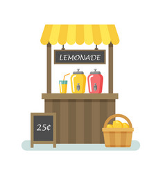 Lemonade stand flat vector