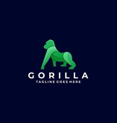 Logo gorilla gradient colorful vector