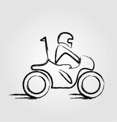 Man on a scooter vector image