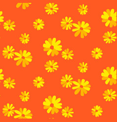 marguerite orange floral daisy seamless vector image