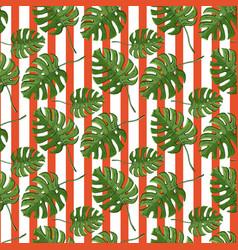 monstera plant seamless pattern vector image