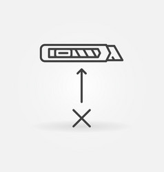 No cutter linear icon do not use knife vector