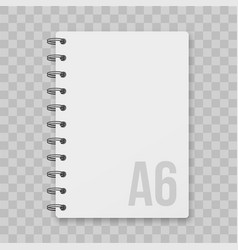 notepad blocknote isolated mockup vector image