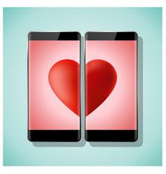 Online dating concept love has no boundaries vector