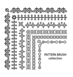 Pattern brush collection arabic style vector image