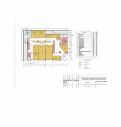 Project plan shopping center in city vector
