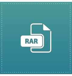 RAR file format icon vector