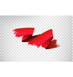 Red paint brush stroke realistic vector