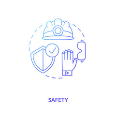Safety blue gradient concept icon vector