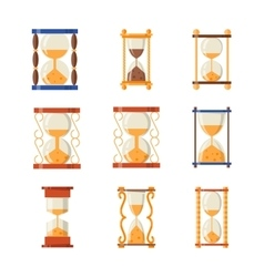 Sand clocks set collection vector image