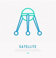 Satellite thin line icon vector