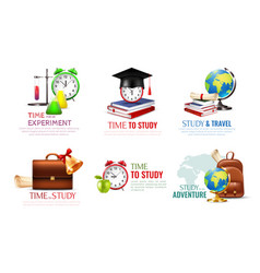 school graduation icons set vector image