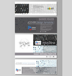 Social media and email headers set banners vector