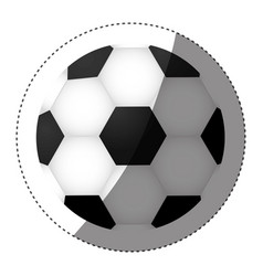 sticker colorful silhouette with soccer ball vector image