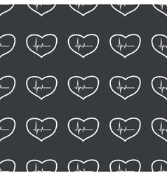 Straight black cardiology pattern vector image