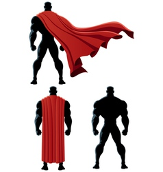 Superhero back isolated vector