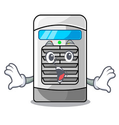 Surprised air cooler isolated with cartoon vector