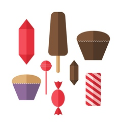 Sweet food Icon set Candy vector