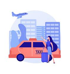 taxi transfer abstract concept vector image