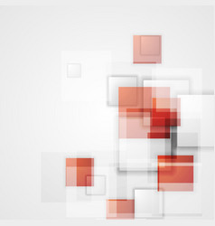 Tech background with red squares vector image