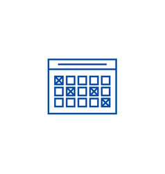 Timetable line icon concept timetable flat vector