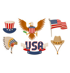 usa items objects collection vector image