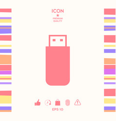 Usb flash memory drive icon vector
