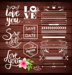 various wedding and save the date icons vector image
