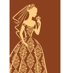 Vintage lady dress vector image