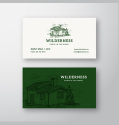 Wilderness wood abstract vintage logo and vector