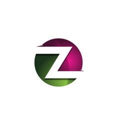 z 3d colorful circle letter logo icon design vector image