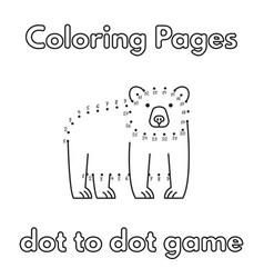 Cartoon bear coloring book vector