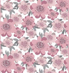 creative stylized floral seamless pattern abstract vector image
