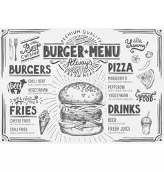 Menu restaurant food template vector
