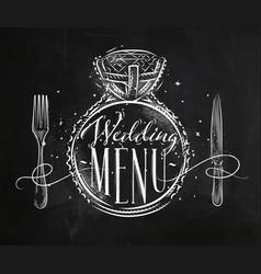 wedding menu chalk vector image vector image