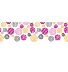 Abstract textured bubbles horizontal border vector