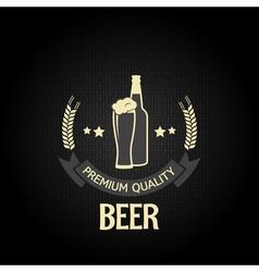 beer bottle glass design background vector image