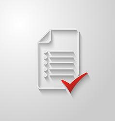 Check list icon 3 vector image vector image