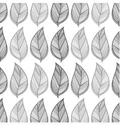 leaves background design decoration vector image vector image