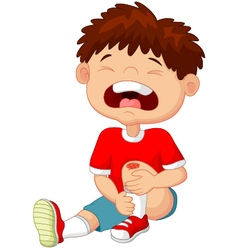 Little boy crying vector image vector image