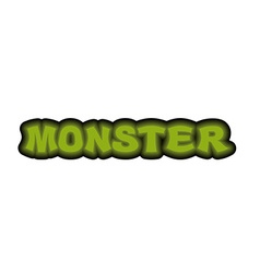 Monster typography Scary green letters Logo for vector image vector image