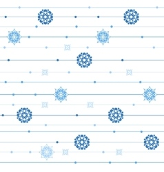 seamless pattern with stripes snowflakes vector image vector image