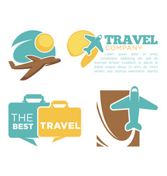 best travel agency promotional poster with planes vector image vector image