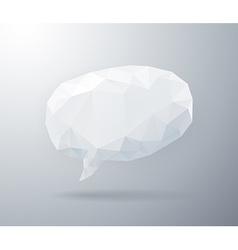 Light geometric speech bubble vector image vector image
