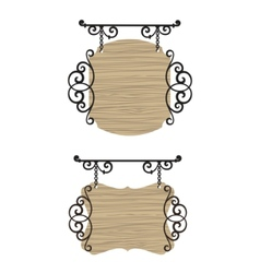 vintage wooden signs vector image vector image